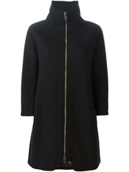 Herno High Collar Padded Coat Black