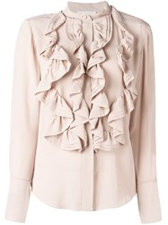Chloe Ruffle Blouse Nude And Neutrals