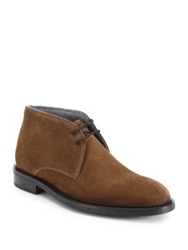 To Boot Brewer Suede Chukka Boots Light Brown Dark Blue