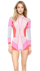 Cynthia Rowley Colorblock Wetsuit Pink Combo