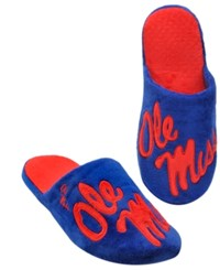 Forever Collectibles Men's Mississippi Rebels Big Logo Slippers Red Blue