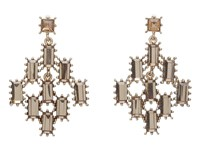 Betsey Johnson Iconic Summer Gem Chandelier Earrings Topaz Earring Tan