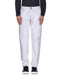 Philipp Plein Homme Denim Denim Trousers Men White