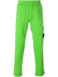 Stone Island Logo Pocket Trousers Green