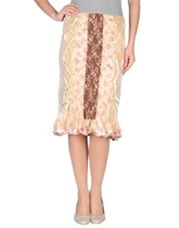 Guess By Marciano 3 4 Length Skirts Beige