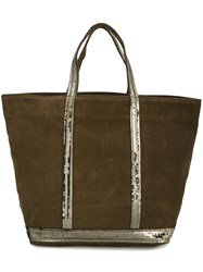 Vanessa Bruno Sequin Trim Tote Bag Green
