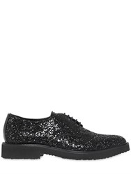Giuseppe Zanotti Glitter Derby Lace Up Shoes