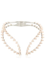 Ellen Conde Spikes Rose Gold High Collar Necklace