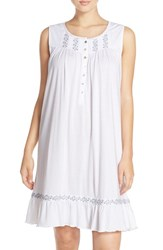 Eileen West Women's Embroidered Jersey Nightgown