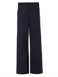 Seafarer High Rise Wide Leg Tailored Trousers