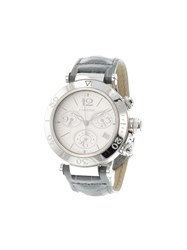Cartier 'Pasha Chronograph' Analog Watch Stainless Steel