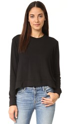 Feel The Piece Lori Super Soft High Low Sweatshirt Black