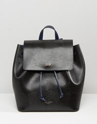 Ted Baker Faux Lizard Backpack Black