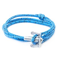 Anchor And Crew Union Rope And Silver Bracelet Blue Noir