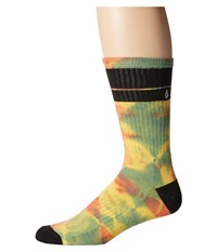 Volcom Quarta Sock Faded Lemon Men's Crew Cut Socks Shoes Multi
