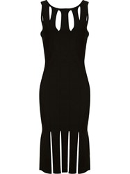 Cushnie Et Ochs 'Peekaboo Fringe' Dress Black