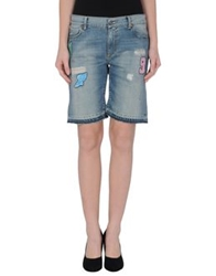 Franklin And Marshall Denim Bermudas Blue