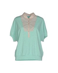 Fabiana Filippi Topwear Polo Shirts Women Light Green