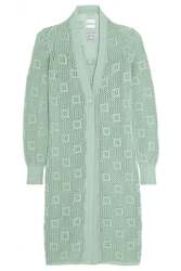Alexander Lewis Groupie Open Knit Cotton Cardigan