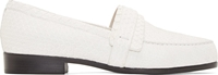 Carritz White Python Moccasin Flats