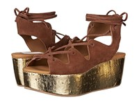See By Chloe Sb24200 Cola Women's Wedge Shoes Brown