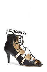 Jimmy Choo 'Myrtle' Laced Leather Bootie Women Black