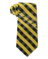 Eagles Wings Iowa Hawkeyes Checked Tie Team Color