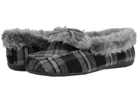 Vionic Cozy Juniper Moccasin Grey Plaid Women's Slip On Shoes Multi