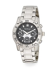 English Laundry Stainless Steel Chronograph Bracelet Watch Silver