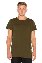 Stampd Chamber Scallop Tee Olive