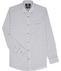 Austin Reed Wrinkle Free Tattersall Check Shirt Brown