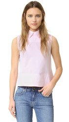 Victoria Beckham Tie Back Sleeveless Shirt Pale Candy
