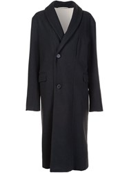 Christophe Lemaire Double Breasted Coat Grey