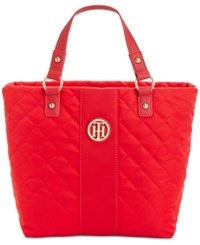 Tommy Hilfiger Isla Quilted Shopper Racing Red