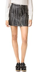 Free People Obsessed Leather Miniskirt Black