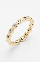 Melinda Maria Pod Eternity Band Ring Gold Clear