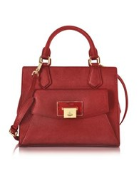 Vivienne Westwood Saffiano Leather Opio Satchel Bag Red