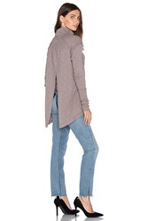 Free People L S Turtle Top Taupe