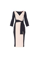 Maiocci Collection Classic Wrap Dress Beige
