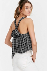 Cope Bow Back Tank Top Black And White