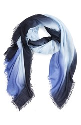 Nordstrom Women's Dip Dye Cashmere And Silk Scarf Blue Blue Combo