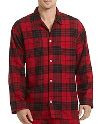 Polo Ralph Lauren Red Derby Plaid Flannel Pajama Top