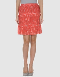 Raoul Knee Length Skirts Coral