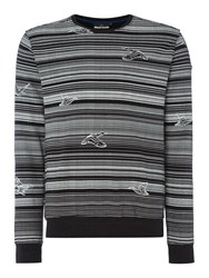 Duck And Cover Men's Rotation Crew Neck Sweat Black