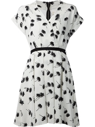 Band Of Outsiders Palm Tree Print Dress White