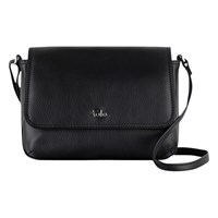 Tula Nappa Small Flapover Shoulder Bag Black