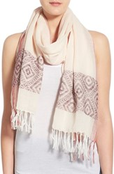 Women's Caslon Diamond Print Border Scarf