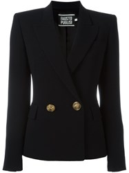 Fausto Puglisi Double Breasted Blazer Black