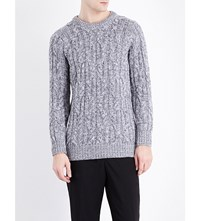 Pringle Crewneck Cashmere Jumper Graphite Off White