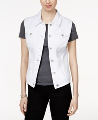 Styleandco. Style And Co. Petite White Wash Denim Vest Only At Macy's Bright White